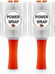 Powerwrap Heavy Duty Industrial Stretch Wrap With Rolling Handle 5 X 1000ft