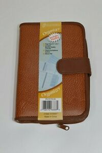 New Vintage At a glance Personal Planner Organizer Calendar Wallet Inserts Brown