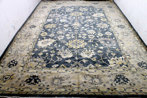 12x17 Exquisite Mint New Palace Hand Knotted Wool Oushak Turkish Orientaql Rug