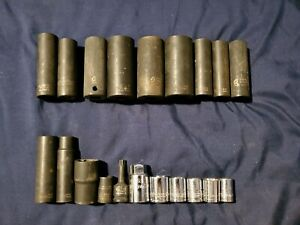 E64 New And Used Lot Of 20 Sockets Sunex