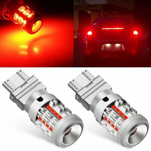 Jdm Astar 2x Canbus Red 3157 3020 Smd High Power Led Brake Stop Tail Light Bulbs