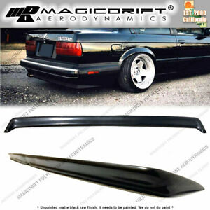 Bmw 3 series E30 Polyurethane Rear Boot Trunk Deck Lid Lip Spoiler Wing Si Style