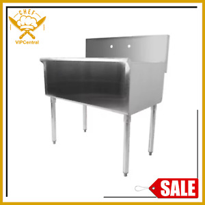 Freestanding Utility Stainless Steel 16 gauge Commercial Sink 36 X 21 X 14 Bowl
