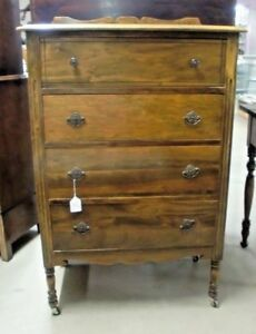 Antique Depression Chest Of 4 Drawers