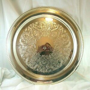 Rare Vintage Wm Rogers Pearl 4572 Silverplate 15 Tray New In The Original Box
