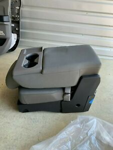 2015 2016 2017 Ford F150 Center Console Jump Seat Gray Cloth Oem New 15 16 17