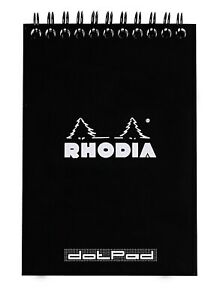 Rhodia Wirebound Notebook 6 X 8 Dot Pad Black
