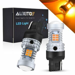 Auxito Canbus 7443 7440 Led Amber Turn Signal Parking Drl High Power Light Bulbs