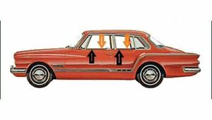 1962 Plymouth Valiant 2 Door Sedan Window Beltline Weatherstrip Kit 8 Pieces