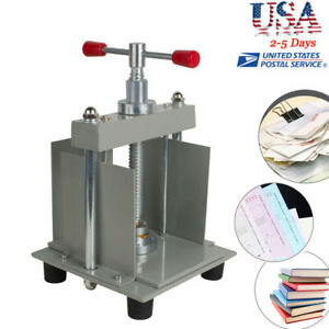 Us A4 Manual Flat Paper Press Machine Invoices checks nipping Machine Durable