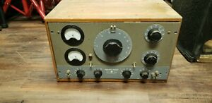 Vintage Hp hewlett Packard 205ag Audio Signal Generator With Wood Casing