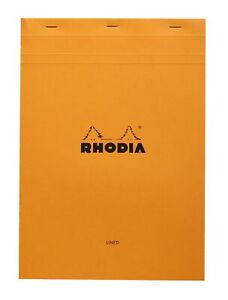 Rhodia Staplebound Notebook 6 X 8 Lined Paper Orange