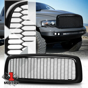 Glossy Black Honeycomb Mesh Front Bumper Grille grill For 02 05 Ram 1500 2500