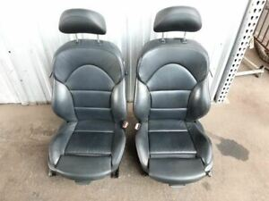 Bmw E46 M3 Coupe Front Seats Left Right Seat Pair Black 12 Way Leather Sport