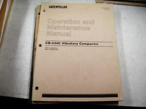 Cat Caterpillar Cb434c Vibratory Compactors Operation Maintenance Manual