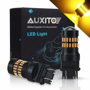 2x 3157 3757a Turn Signal Light Amber Led Bulbs Fit For 2004 12 Chevy Colorado