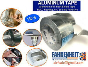 8 Tapes 3in X 150 Ft Aluminum Foil Tape Box With 8 Tapes