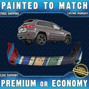 New Painted To Match Rear Bumper For 2011 2015 Jeep Grand Cherokee W Park 11 15