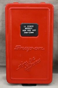 Snap On 9 Pc Metric L Shaped Allen Hex Wrench Set Missing 2 5 And 5 Mm