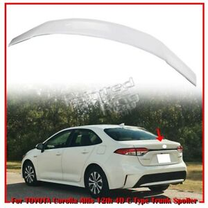 Painted 040 For Toyota Corolla Altis 12th 4dr C Type Trunk Boot Spoiler Wing 20