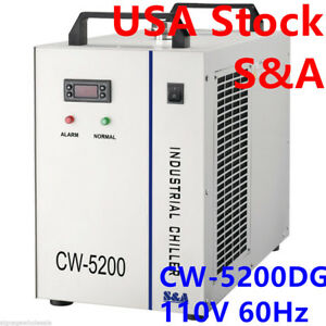 Usa S a 110v Cw 5200dg Industrial Water Chiller For 130w 150w Co2 Laser Tube