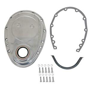 Summit G6300w 1 piece Aluminum Sbc Timing Cover Polished Each