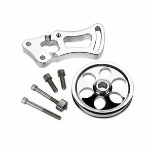 Billet Spec Power Steering Bracket And Pulley Aluminum Chevy Sb Long Water Pump