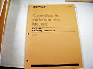 Cat Caterpillar Cb634c 3br Vibratory Compactors Operation Maintenance Manual