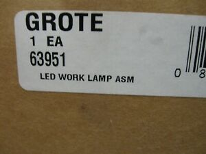New Grote Led Mount Work Light 2700 Lumens Pn 63591