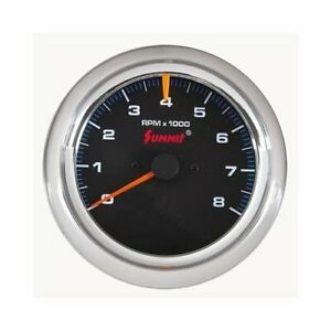 Summit Racing Tachometer 0 8 000 3 3 8 Dia Black Face G29102
