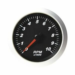Summit Racing Pro Series Tachometer 0 10 000 3 3 8 Dia In dash Black Face G2969