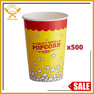 500 46oz Popcorn Cups Party Snack Home Machine Microwave Kitchen Mini Maker Pack
