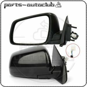 For 2008 2014 Mitsubishi Lancer Left Right Side Mirrors Black Power Function