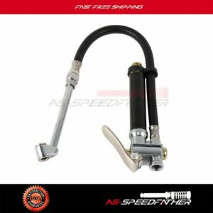 120 Psi Tire Pressure Gauge With 12 Rubber Air Hose Chuck Dual Head Tire Usa