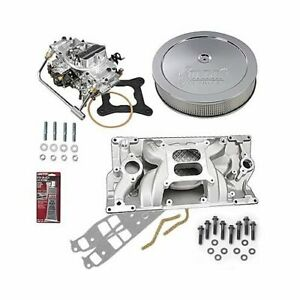 Summit Racing Intake Manifold Carburetor And Air Cleaner Pro Pack 03 0223