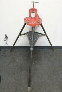 Ridgid 40 a Vise Tripod Tristand Stand Use With Pipe Threading