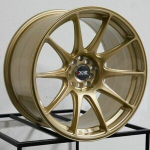 16x8 25 Xxr 527 4x100 4x114 3 0 Gold Wheels Rims Set 4