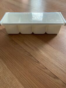 Preowned Longstar White Plastic 4 Compartment Bar Caddy Condiment Tray L523