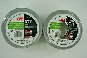 clearance 2 roll 3m 98120 48 Mm X 54 8 M 11 Mil Hd Duct Tape Dt11 Silver