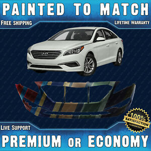 New Painted To Match Front Bumper Replacement For 2015 2017 Hyundai Sonata 15 17