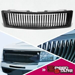 Fence Style Front Upper Bumper Grille Grill For 2007 2013 Chevy Silverado 1500