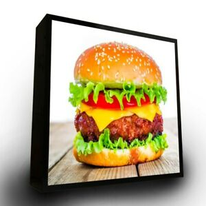 Outdoor Led Light Box Sign 24 x24 x5 With Full Color Direct Print Graphics