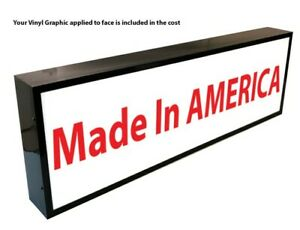 Outdoor Led Light Box Sign 48 x48 x6 With Full Color Direct Print Graphics