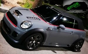 Mini One Jcw R56 R57 R58 R59 Grille Covers Black Top Red Bottom 2006 2013