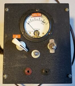 Weston Electric Test Meter With 506 Meter Metal Box Switch Light Dial Nice