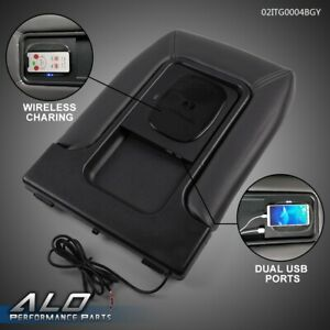 Center Console Wireless Charger Usb Port Dual Charging For 99 07 Silverado Gm