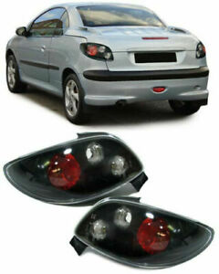 Peugeot 206cc Black Tail Lights 2000 2007 Model Nice Gift
