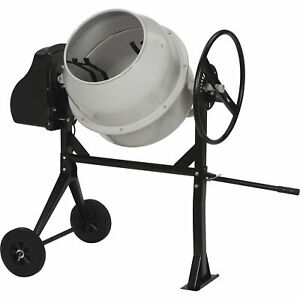 Klutch Portable Electric Cement Mixer 4 25 Cu Ft Drum