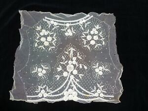 Antique French Princesse Lace Victorian Edwardian Dress Front Collar Unused