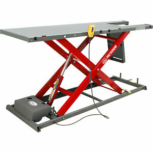 K L Hydraulic Motorcycle Lift With Remote Control 1100 Lb Cap Red Mc500r Red